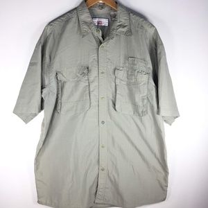 Penn Reels Khaki Fishing Shirt XL Button Light SS